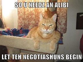 SO U NEEDZ AN ALIBI   LET TEH NEGOTIASHUNS BEGIN