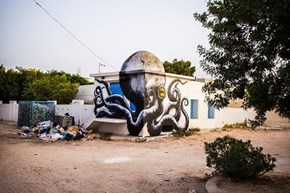 ROA Uses Tunisia's Domes to Create an Octopus Invasion