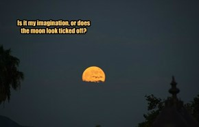 Is it my imagination, or does the moon look ticked off?
