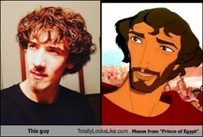 "This guy Totally Looks Like Moses from ""Prince of Egypt"""