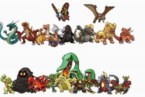 Pokémon in the Godzillaverse