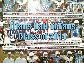 Titans Hall of Fans Class of 2014