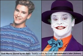Zack Morris (Saved by the Bell)  Totally Looks Like Jack Nicholson's Joker (Batman)