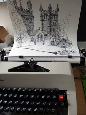 Artsy Fart of the Day: Typewriter Art