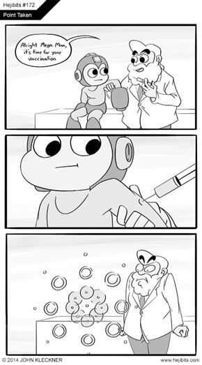 Mega Man Gets Vaccinated