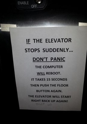 Elevator: No Hauntings or Deaths in Six Days!