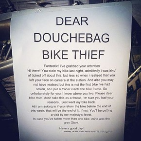 How to Get Back at Bike Thieves