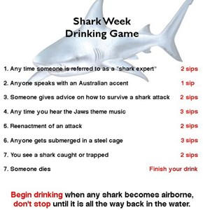The Official Shark Week Drinking Game