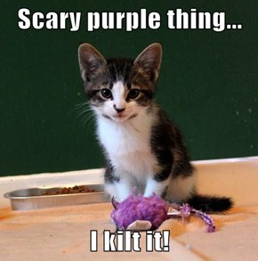 Scary purple thing...  I kilt it!