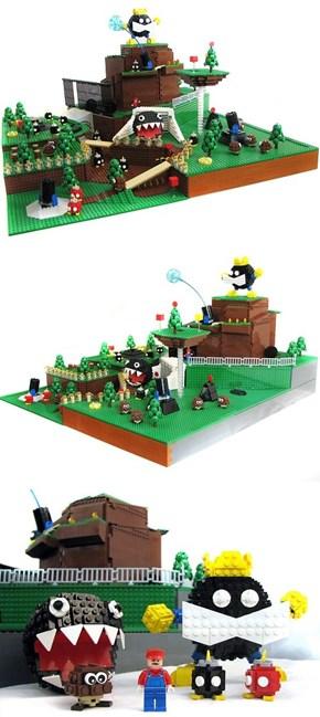 Bob-omb Battlefield in LEGO Form