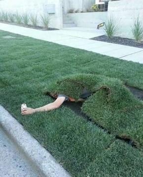 His Ass Is Grass