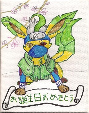 Leafeon Kakashi summons Birthday fun