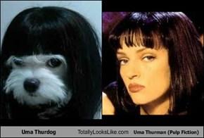 Uma Thurdog Totally Looks Like Uma Thurman (Pulp Fiction)