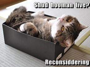 Shud  hooman  live?  Reconsiddering