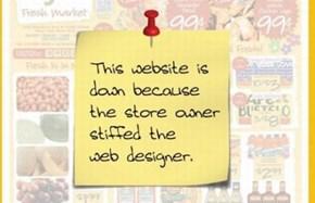Always pay your Website Designer
