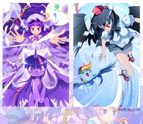 Twilight/Patchouli and Rainbow/Aya
