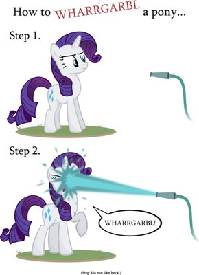 How to WHARRGARBL a pony