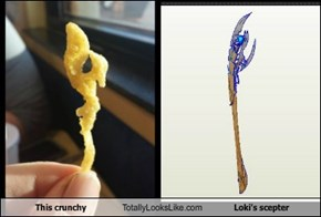This crunchy Totally Looks Like Loki's scepter