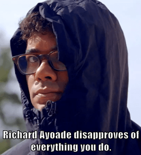 Richard Ayoade disapproves of everything you do.