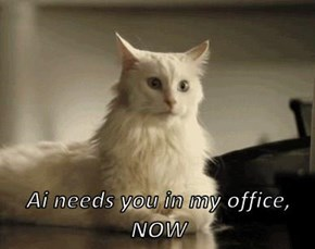 Ai needs you in my office, NOW