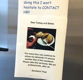 The Office Sandwich Thief: An Epistolary Saga