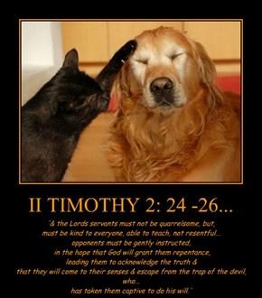 II TIMOTHY 2: 24 -26...