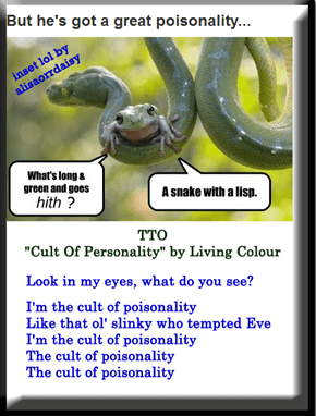 """Cult Of Poisonality"" (TTO ""Cult Of Personality"" by Living Colour)"