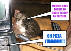 MOMMY, DONT FORGET TO ORDER THE NIP ON THE SIDE.
