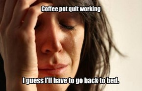 Coffee pot quit working