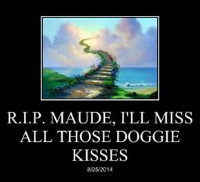 R.I.P. MAUDE, I'LL MISS ALL THOSE DOGGIE KISSES