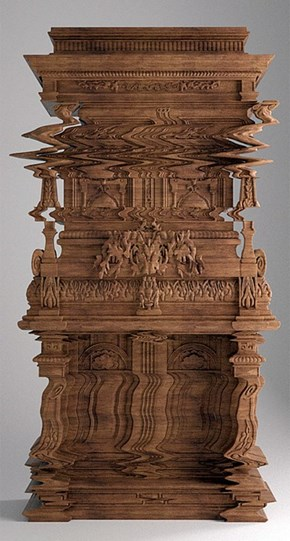 Your Monitor is Fine, This Cabinet Was Just Carved to Look Like a Glitch