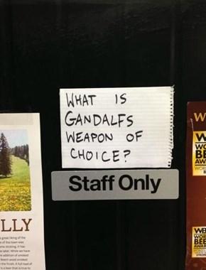 Occasionally a Balrog-Slaying Sword