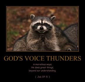 GOD'S VOICE THUNDERS