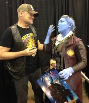 Michael Rooker Is Adorably Delighted To Meet Yondu
