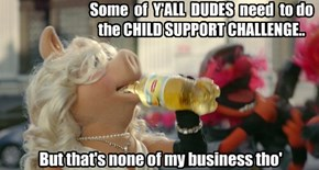Some  of  Y'ALL  DUDES  need  to do  the CHILD SUPPORT CHALLENGE..