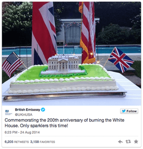 The British Embassy Attempted to Apologize for the Torching of the White House 200 Years After the Fact