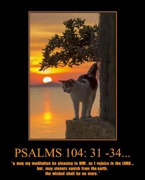 PSALMS 104: 31 -34...