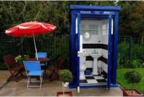 "A Public ""Who Loo"" Has Popped Up in a Bike Path, in Bristol, England"