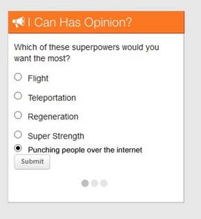 I fixed your survey for ya