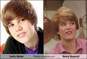 Justin Bieber Totally Looks Like Nancy Dussault