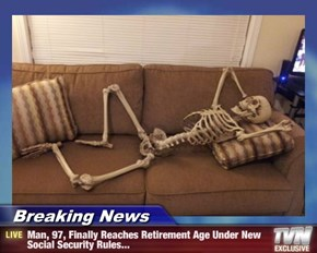 Breaking News - Man, 97, Finally Reaches Retirement Age Under New Social Security Rules...