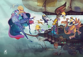 The Simpsons Meets Final Fantasy IV