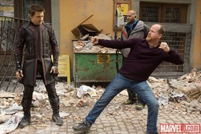 Hawkeye Gets Some Tips From The Awkward Master