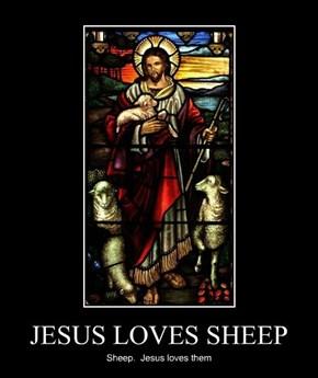 JESUS LOVES SHEEP