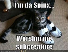 I'm da Spinx...  Worship me subcreature
