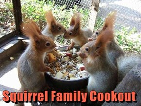 Squirrel Family Cookout
