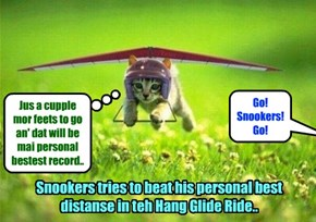 One of teh most popular rides at teh Kamp Karnival dis summer is teh Hang Glide Ride.. It's so bery much funs for all teh Kampers..