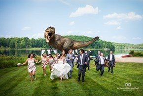 Photo of the Day: Jeff Goldblum Recreates Jurassic Park in This Awesome Wedding Photo