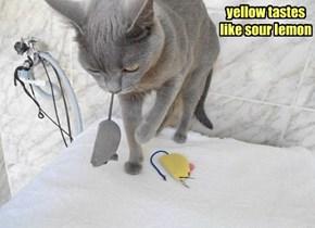 yellow tastes like sour lemon