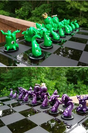 Cthulhu And The Ancient Ones Play Chess